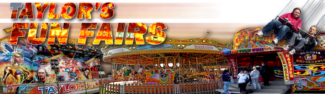 Some of Taylors Cumbria Amusements funfair rides