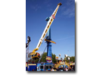 The Booster's big brother – available on request. Towering 50–metres – over 160ft – into the sky, this is quite simply the tallest and fastest travelling ride in the UK today!