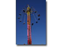 The UK's first and only ride of its kind, this spectacular 40-metre ( 130ft)  tower takes the classic Chair–O–Plane and adds a brand new twist – altitude. A crowd–stopper at any event