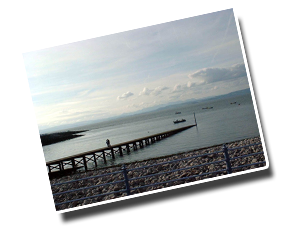 View across Morecambe Bay towards the Lake Districtl